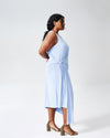 Katherine Side Tie Knot Dress - Periwinkle Image Thumbnmail #4