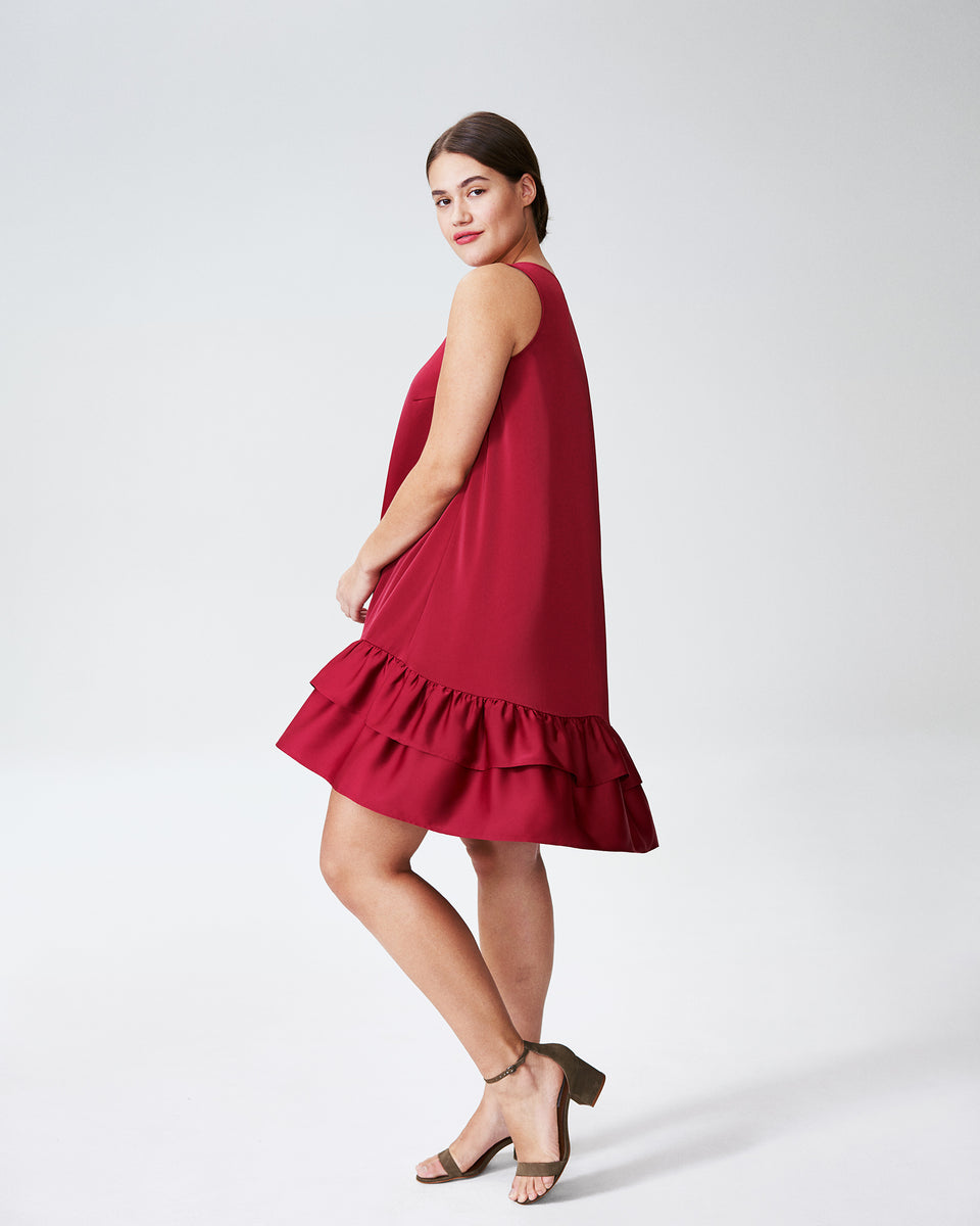 Taza Trapeze Babydoll Dress - Berry