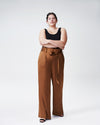 Tresa Wide Leg Tie Pants - CaramelImage #4