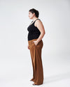 Tresa Wide Leg Tie Pants - CaramelImage #5