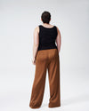 Tresa Wide Leg Tie Pants - CaramelImage #6