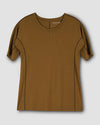 Venencia Short Sleeve Contrast Stitch Top - CaramelImage #2