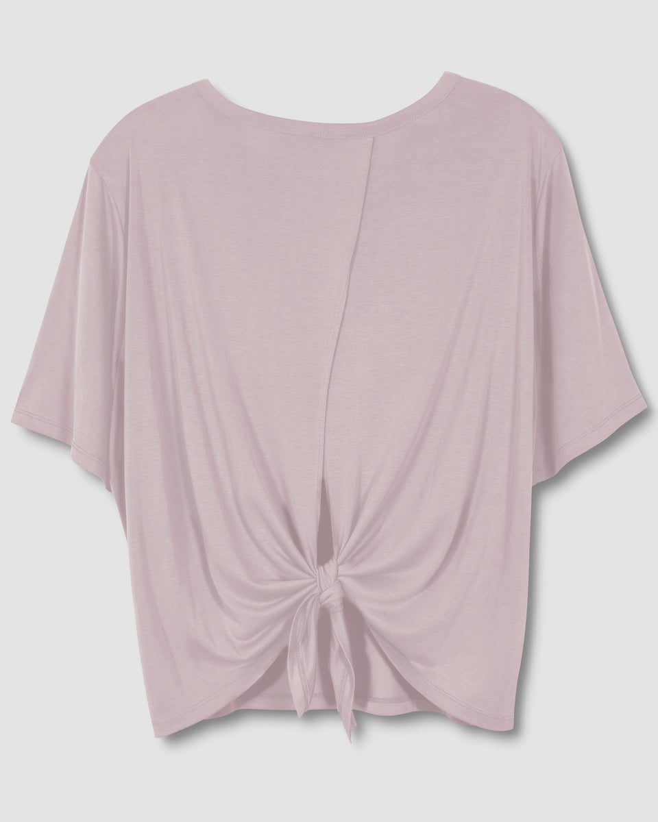 Stacey Tie-Back Tee - Orchid