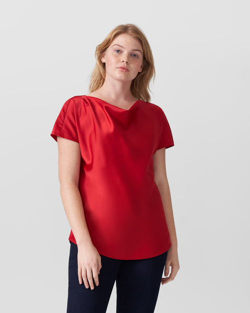 Viva Boatneck Top - Red