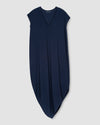Geneva V-Neck Dress - Navy Image Thumbnmail #2