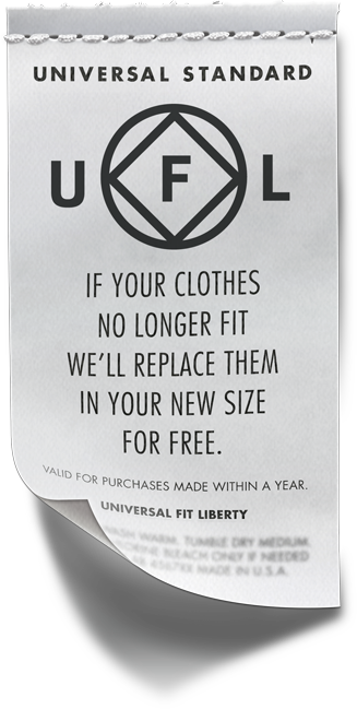 Universal fit liberty clothing tag