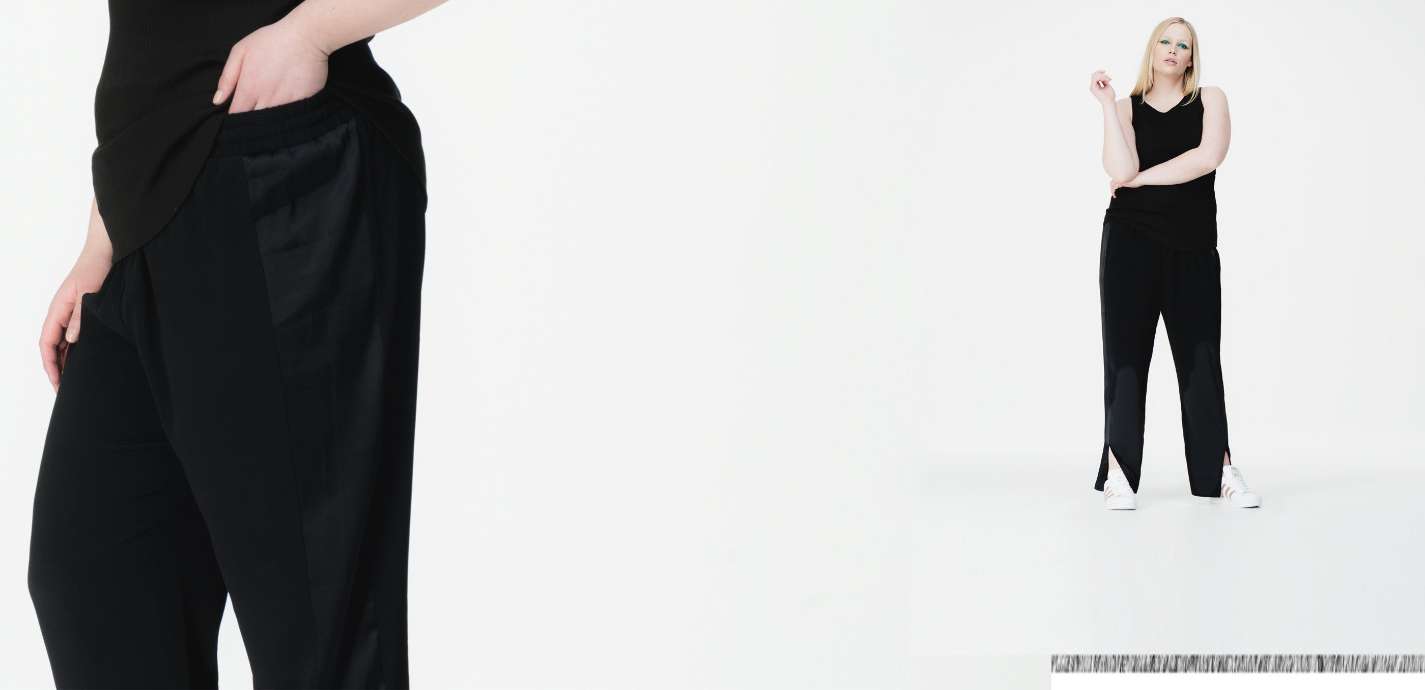 Universal Standard plus size pants in black