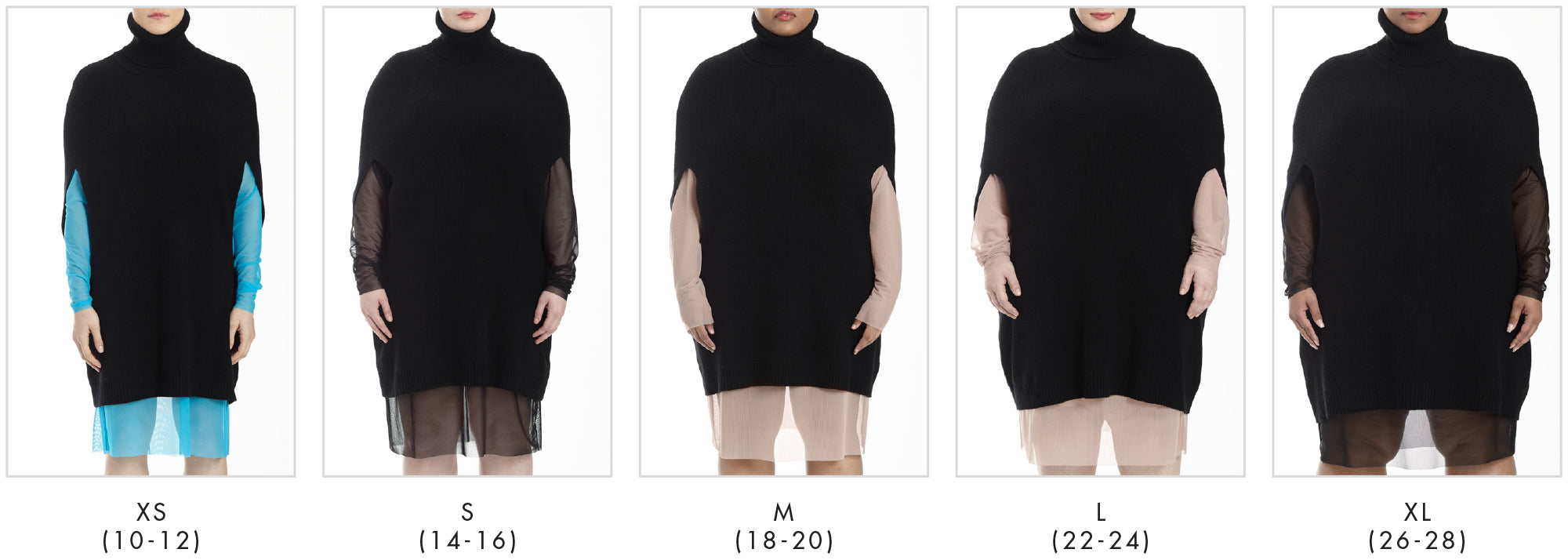 In all our plus sizes for Hudson Knit Cape - Black in Universal Standard