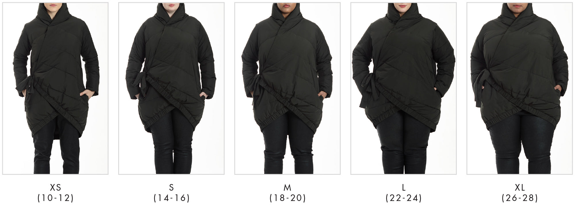 In all our plus sizes for Kanda Puffer - Black in Universal Standard