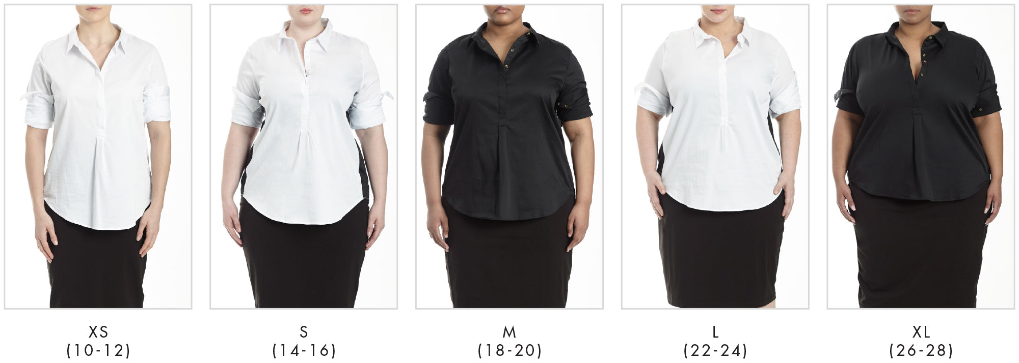 In all our plus sizes for Elbe Shirt - White in Universal Standard