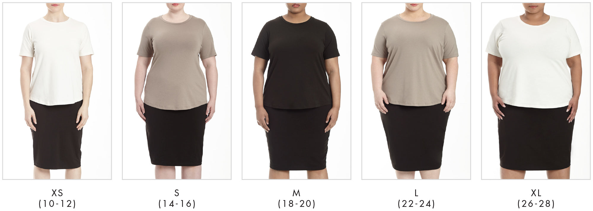 In all our plus sizes for Tee Rex - Eggshell in Universal Standard