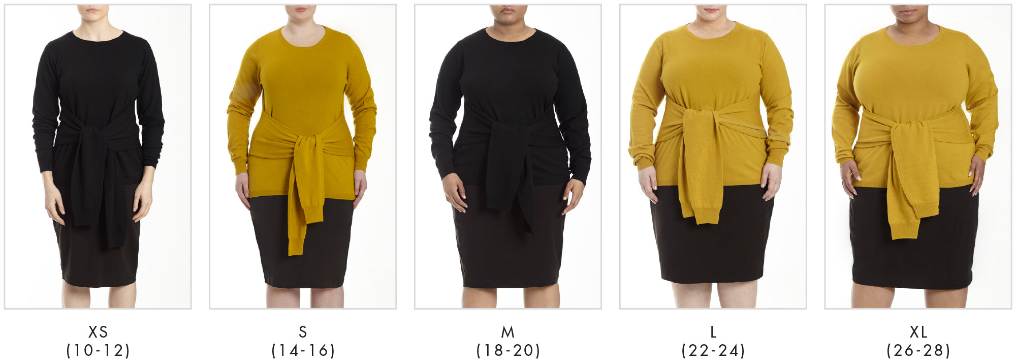 In all our plus sizes for Mae Sweater - Mustard in Universal Standard