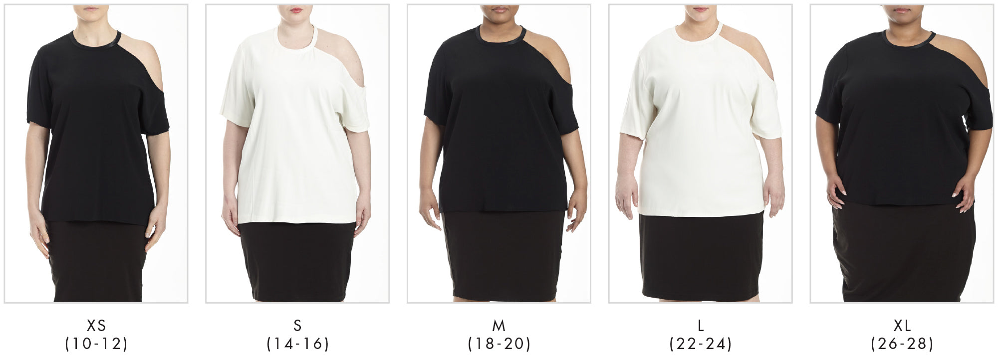 In all our plus sizes for The Candice - Black in Universal Standard
