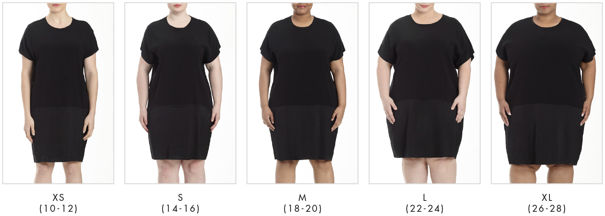 In all our plus sizes for Avenir Dress - Black in Universal Standard