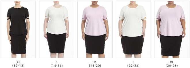 More looks for Cutaway Sleeve Tee - Eggshell in Universal Standard