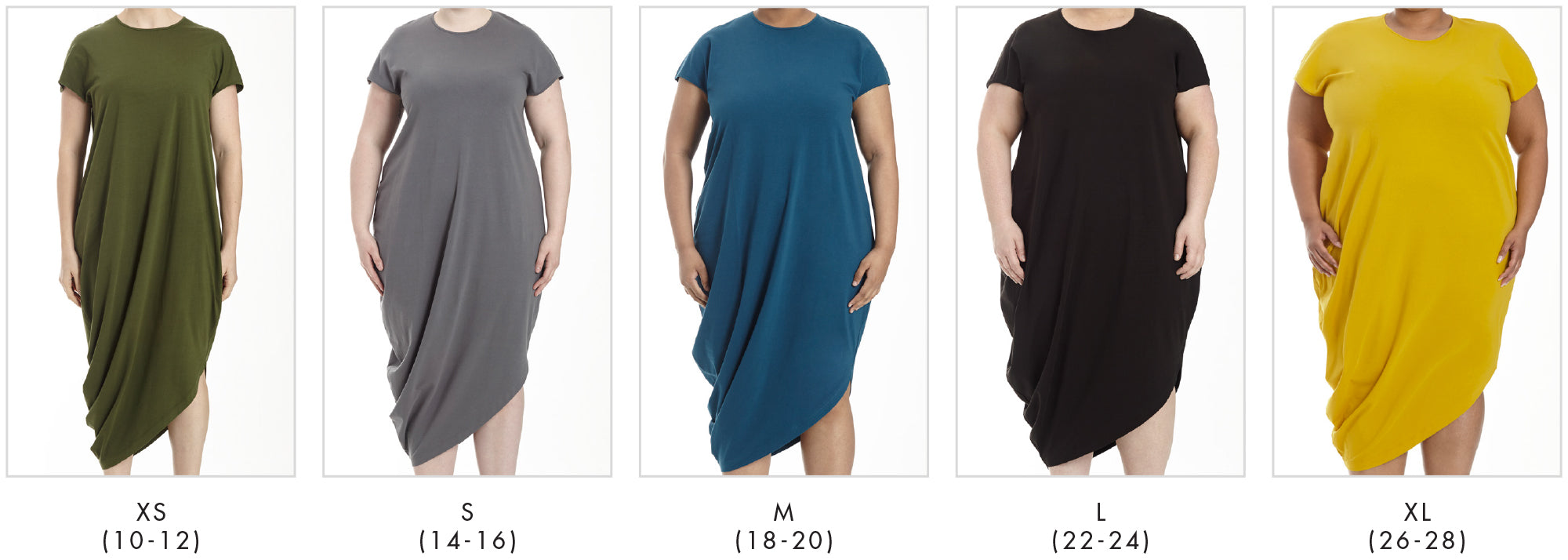 In all our plus sizes for Geneva Dress - Marine in Universal Standard