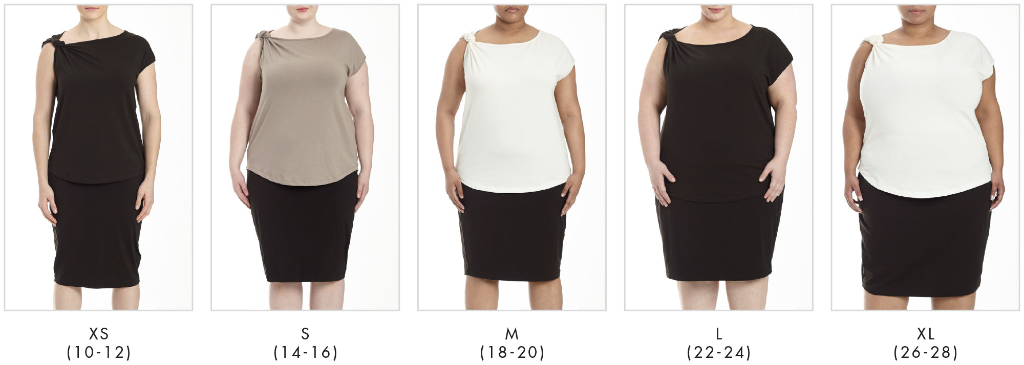 In all our plus sizes for Knot Top - Eggshell in Universal Standard