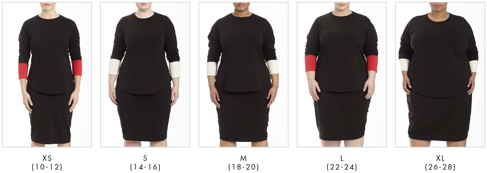 In all our plus sizes for Rhine Color Block Split Top - Black/White in Universal Standard