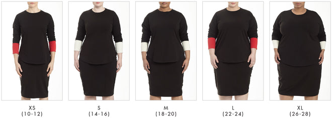 More looks for Rhine Color Block Split Top - Black/White in Universal Standard