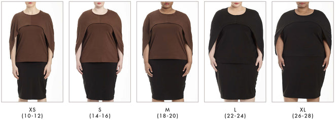 More looks for Volga Jersey Capelette - Brown in Universal Standard