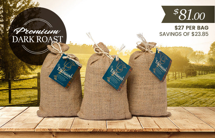 3x Organic, Single Origin Dark Roast Coffee 12 oz Bag - Bundle