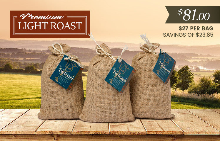 3x Organic, Single Origin Light Roast Coffee 12 oz Bag - Bundle