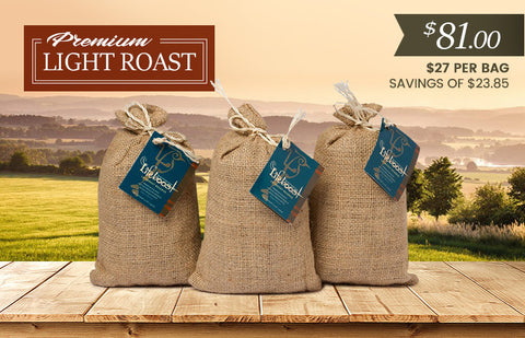3x  Light Roast Coffee 12 oz Bag - Bundle