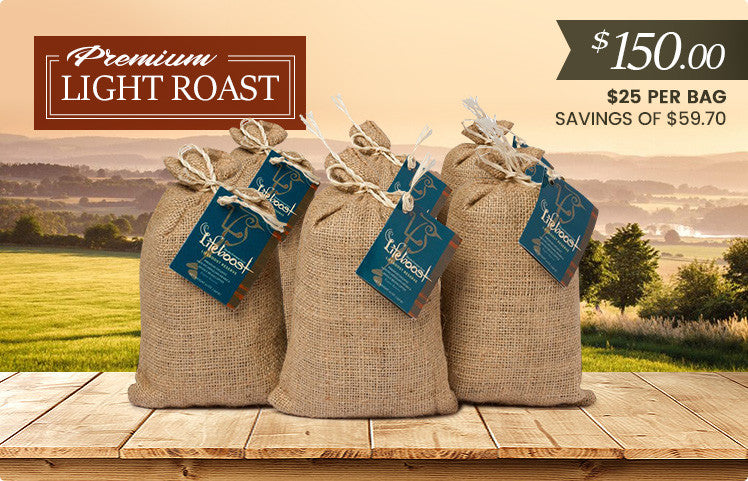 6x  Light Roast Coffee 12 oz Bag - Bundle