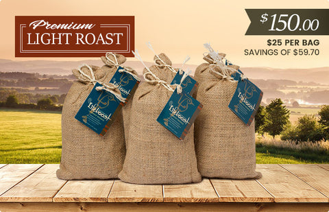 6x Organic, Single Origin Light Roast Coffee 12 oz Bag - Bundle