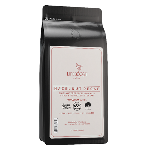 1x  Hazelnut Medium Decaf Coffee 12 oz Bag