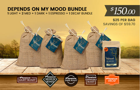 6x Single Origin Specialty, Depends On My Mood  12 oz Bag - Bundle
