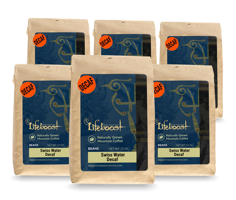 8x Decaf Coffee 12 oz Bag, Single Origin, Fair Trade Medium Roast