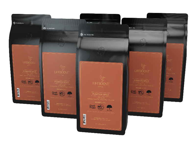 6x Pumpkin Spice Coffee 12 oz Bag - Bundle