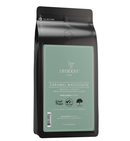 1x Caramel Macchiato Medium Roast Coffee 12 oz Bag