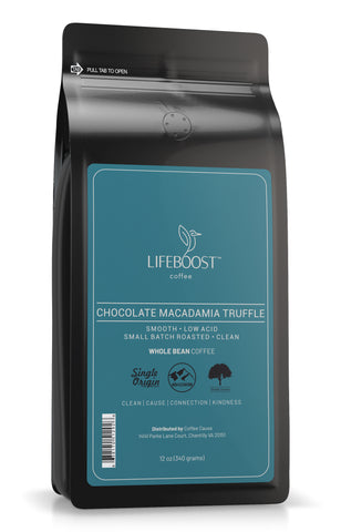 1x Choc Macadamia Medium Roast Coffee 12 oz Bag