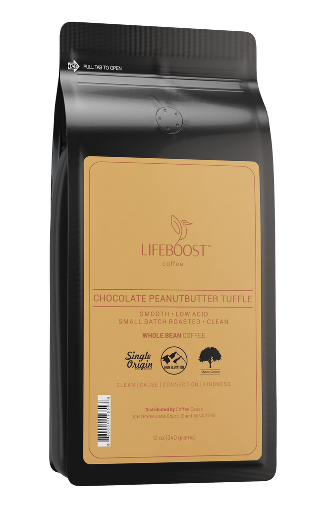 1x Chocolate Peanut Butter Truffle Coffee 12 oz Bag