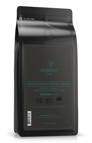 1x Single Origin Specialty, Dark Chocolate Coconut Truffle Coffee 12 oz Bag Subscription