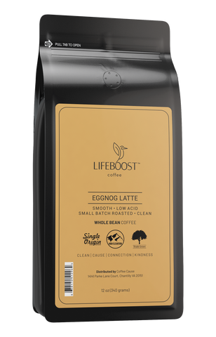 1x Eggnog Latte Flavored Medium Roast Coffee 12 oz Bag