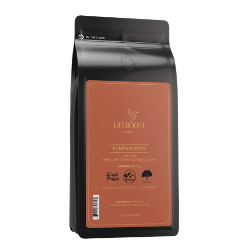 1x Single Origin Specialty, Pumpkin Spice Coffee 12 oz Bag
