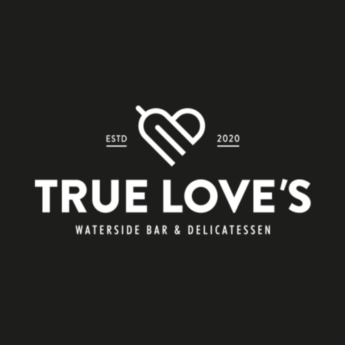 True Loves Logo Design Black