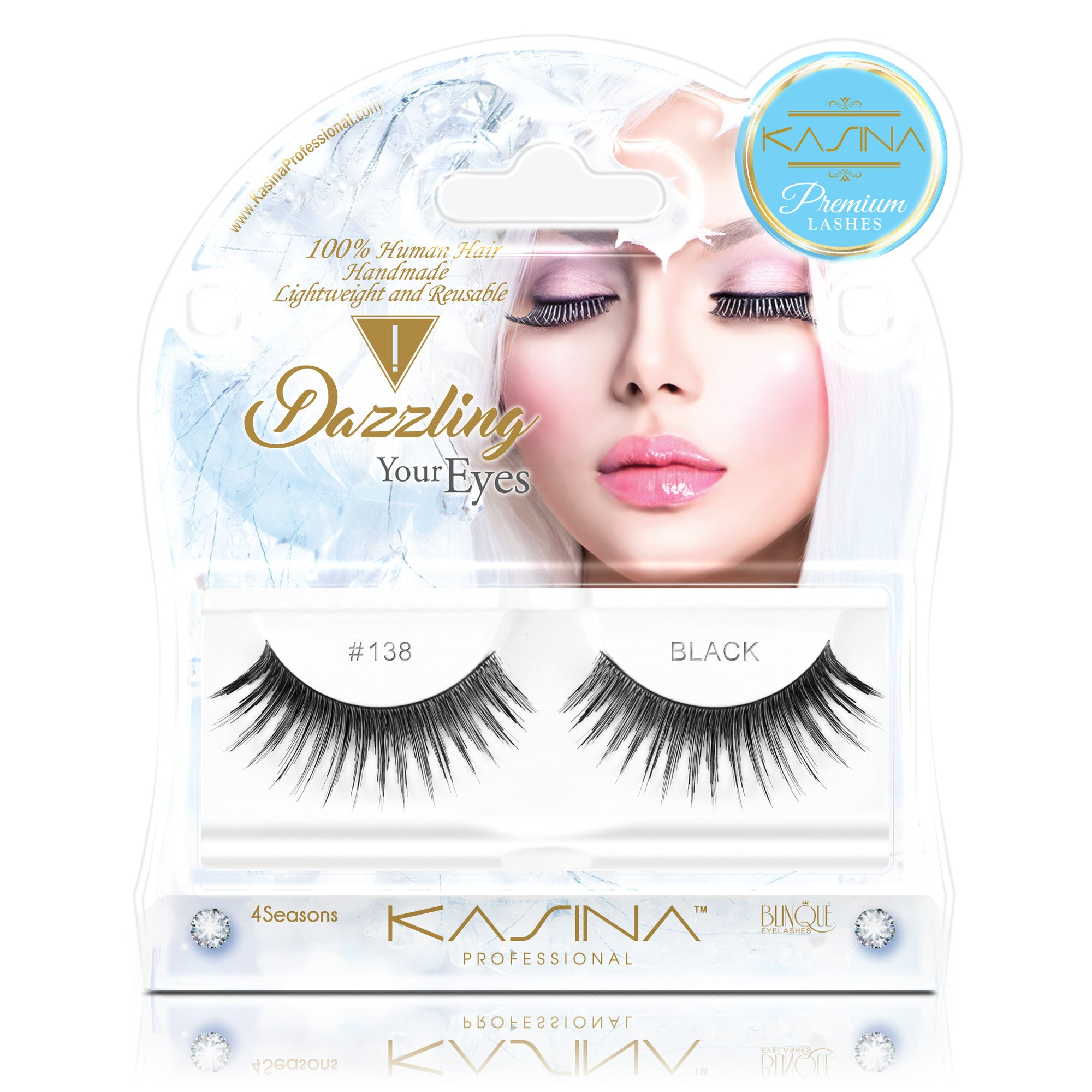 False Lashes - Premium Dazzling #138, WINTER - Recommended by Professional Makeup Artists.