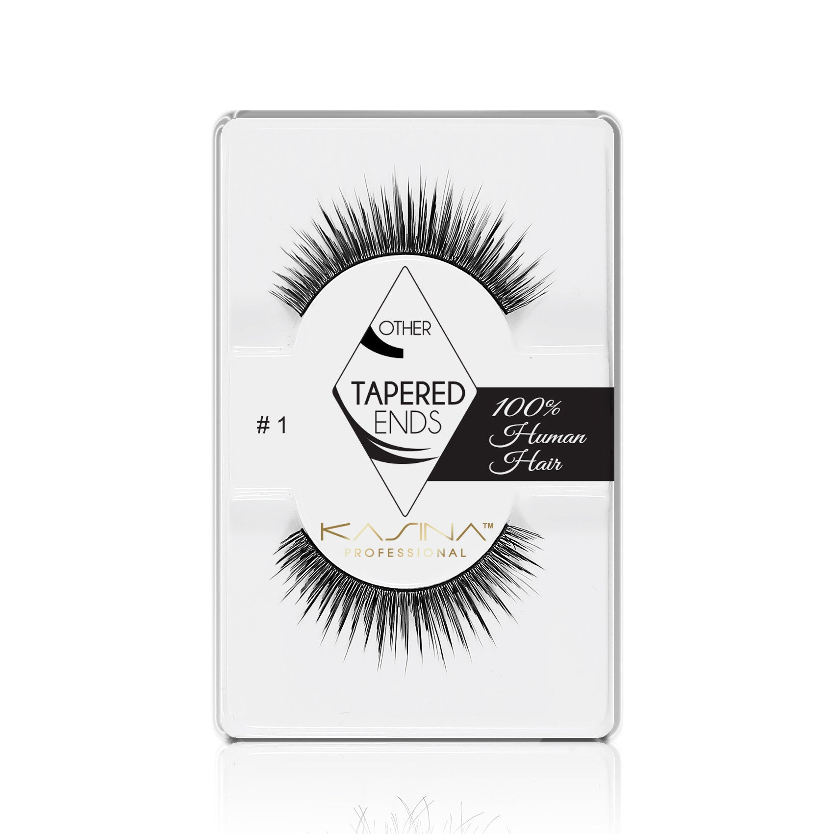 False Lashes - Professional Tapered ends lashes 1T. Chloe - Recommended by Professional Makeup Artists.