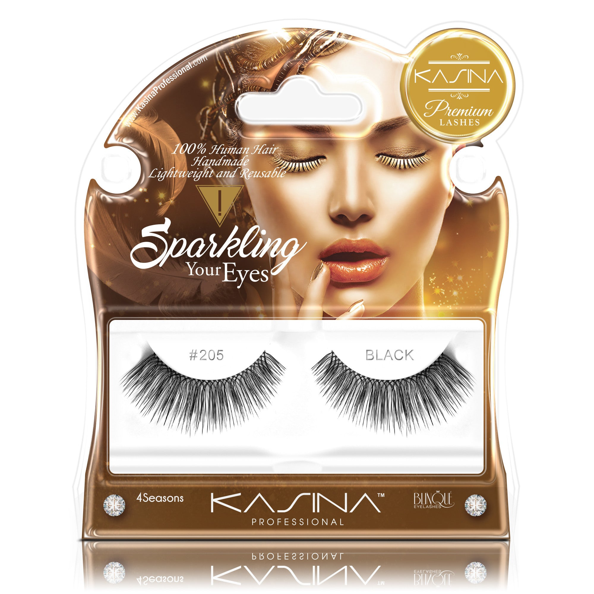 False Lashes - Premium Sparkling #205, THERESE - Recommended by Professional Makeup Artists.