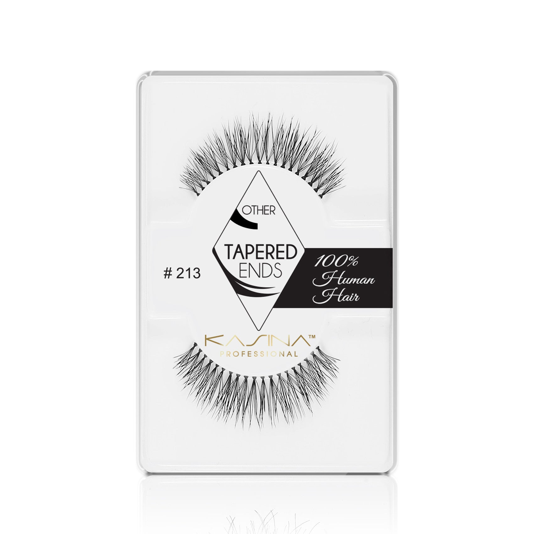 False Lashes - Professional Tapered ends lashes 213T. HARLEY - Recommended by Professional Makeup Artists.