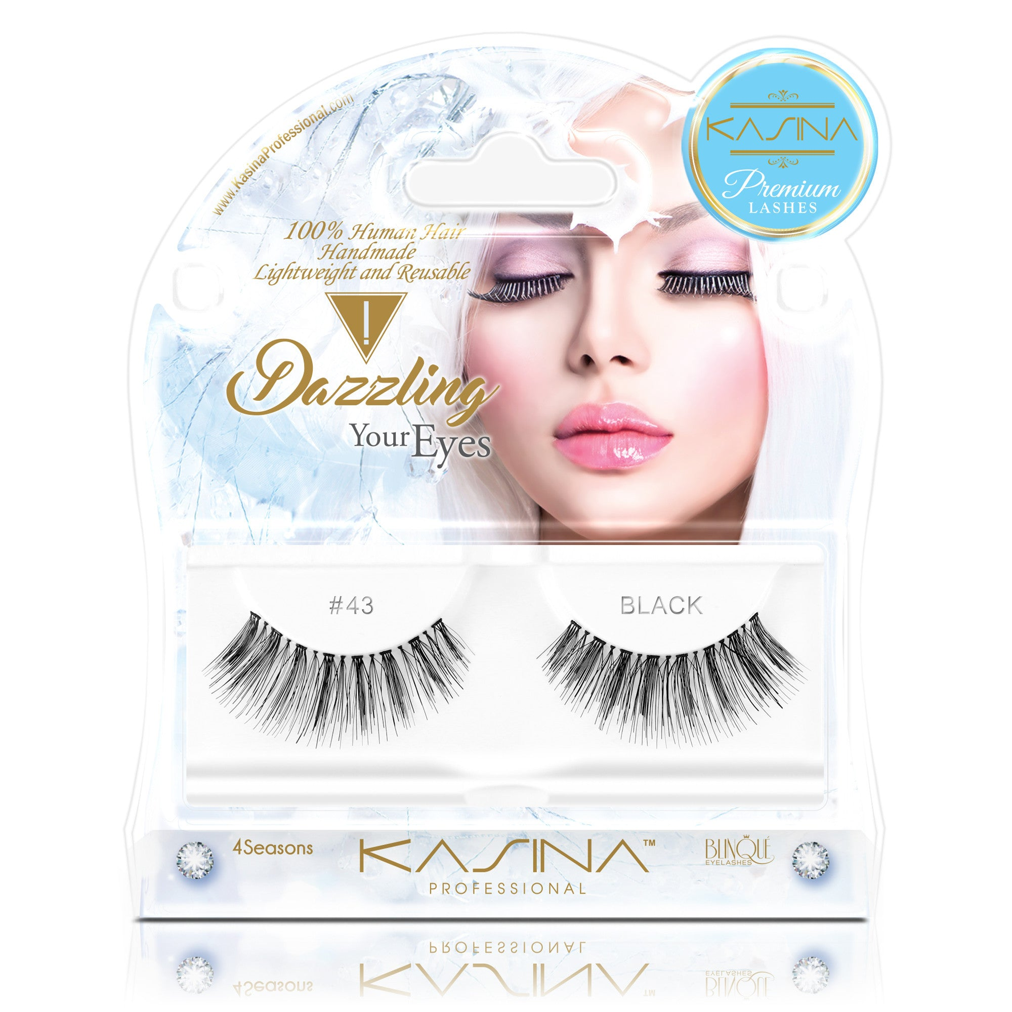 False Lashes - Premium Dazzling #43, IVY - Recommended by Professional Makeup Artists.