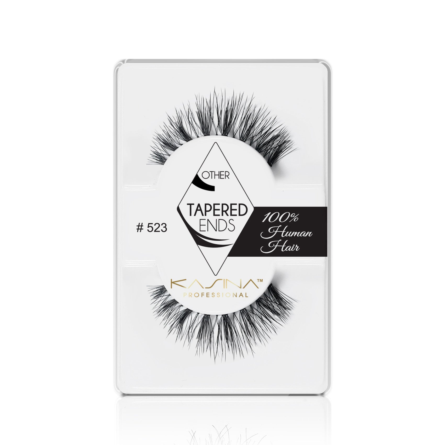 False Lashes - Professional Tapered ends lashes 523T. SAGA - Recommended by Professional Makeup Artists.