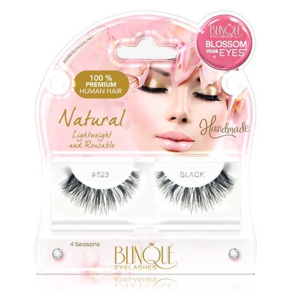 False Lashes - Blossom #523. SAGA - Recommended by Professional Makeup Artists.