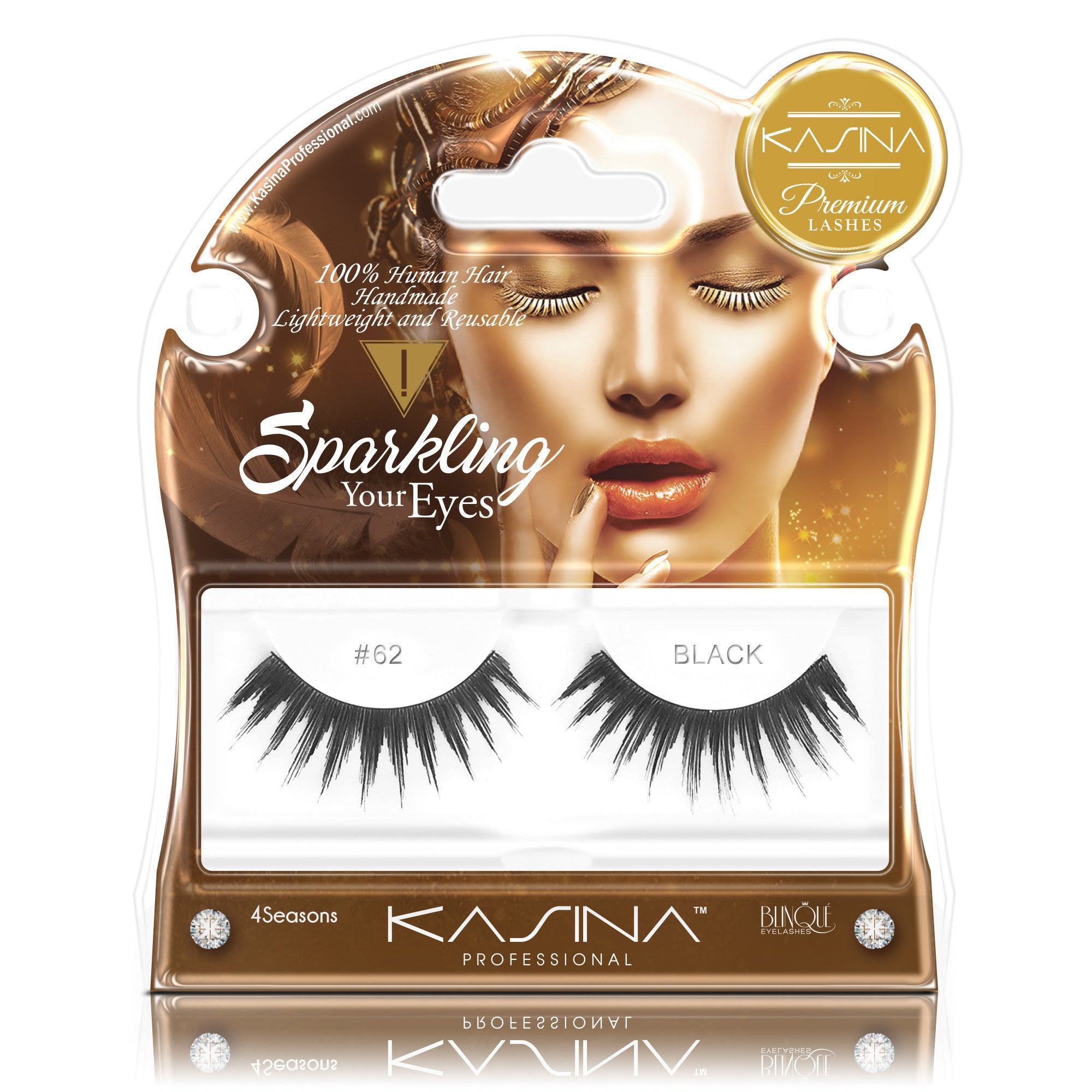 False Lashes - Premium Sparkling #62, GIGI - Recommended by Professional Makeup Artists.