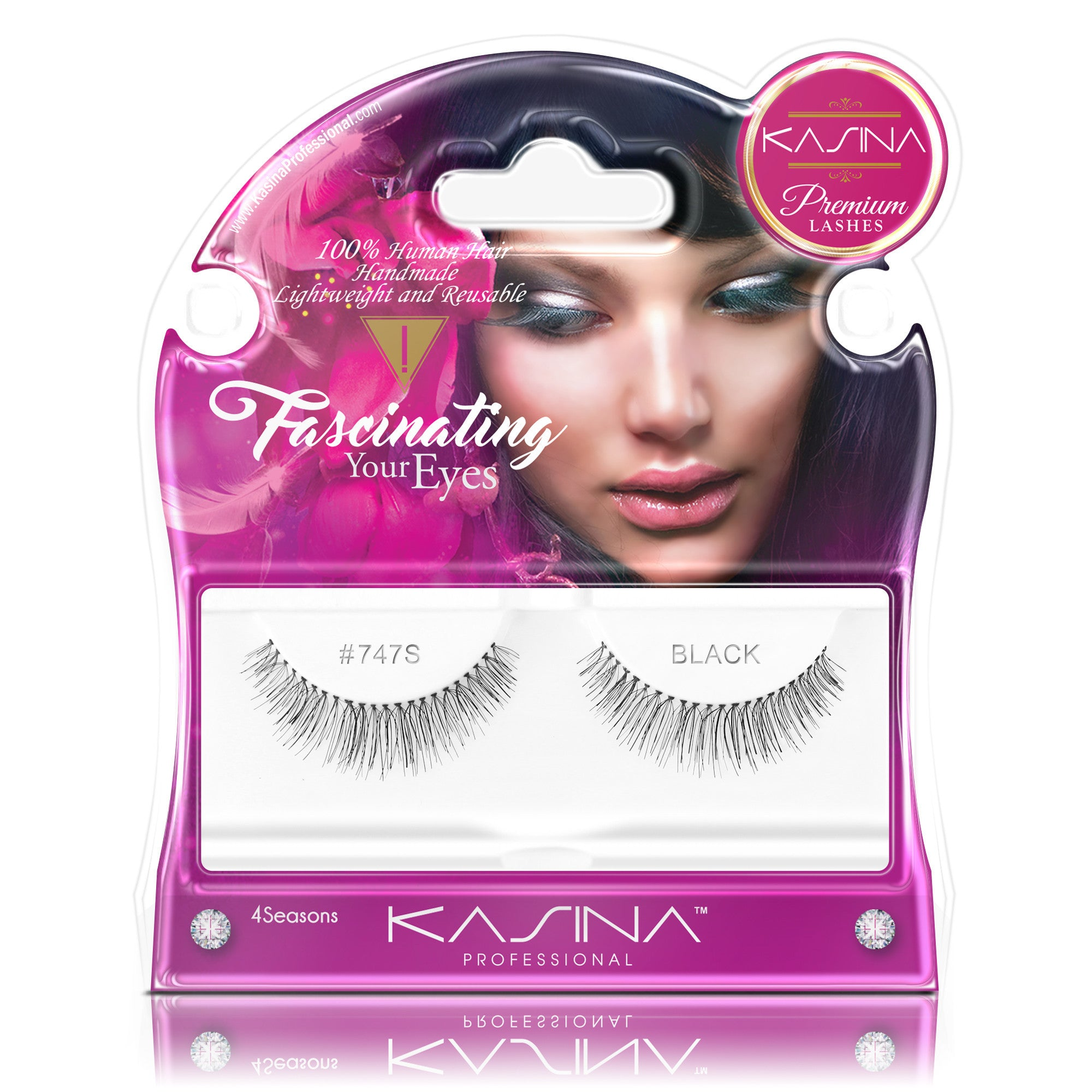 False Lashes - Premium Fascinating #747S, PRIMROSE - Recommended by Professional Makeup Artists.