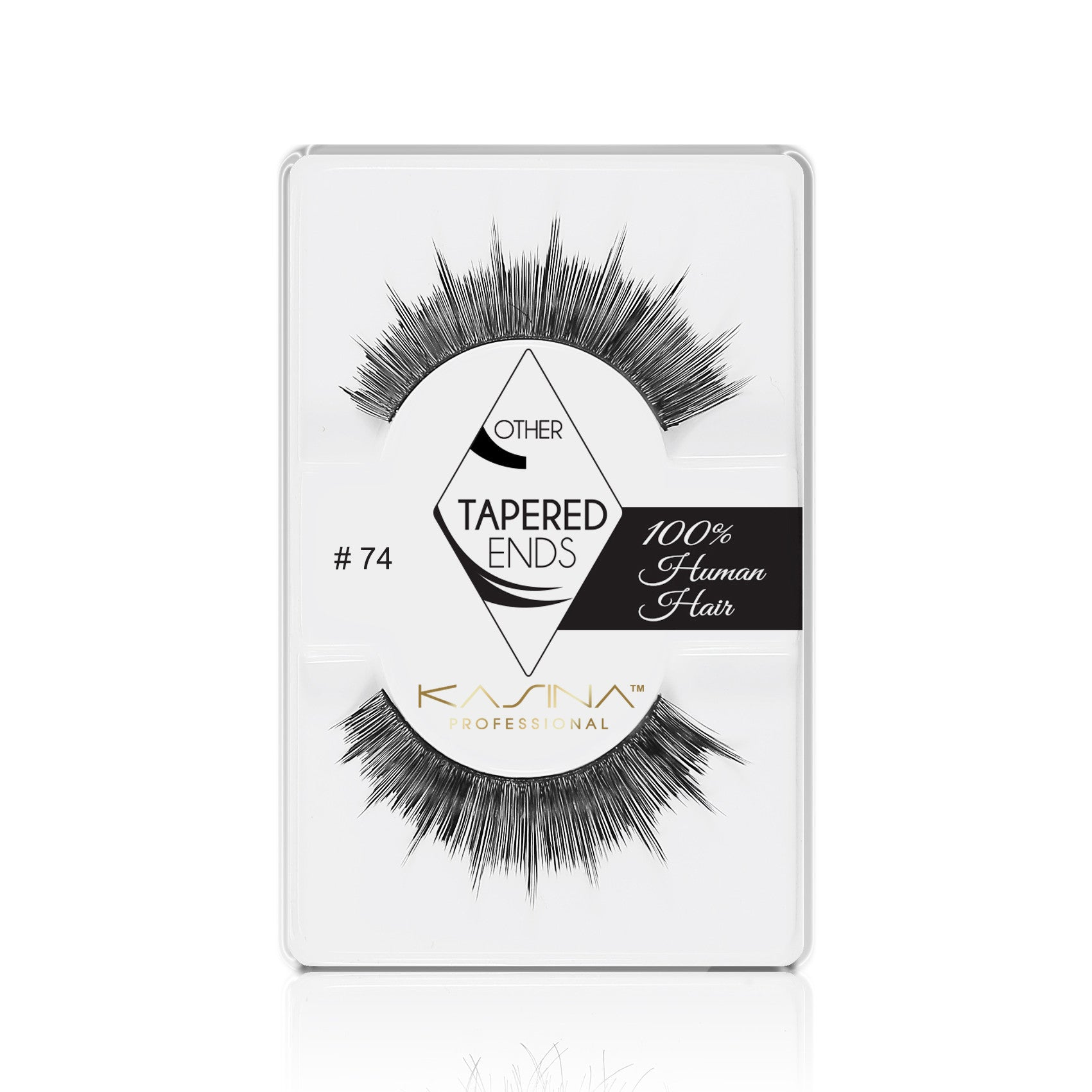 False Lashes - Professional Tapered ends lashes 74T. ZOEY - Recommended by Professional Makeup Artists.